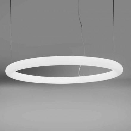 Lámpara de suspensión LED redonda de polietileno Made in Italy - Slide Giotto