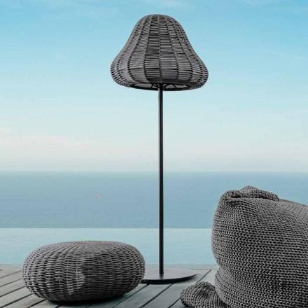Lámpara de pie con diseño moderno Jackie by Talenti en cordón sintético