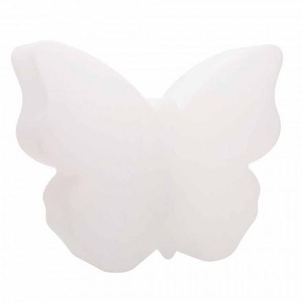 Lámpara de mesa o de pie para interior o exterior, mariposa blanca - Farfallastar