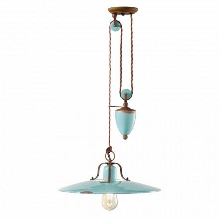 país y la lámpara en el metal y artes de cerámica Evelyn