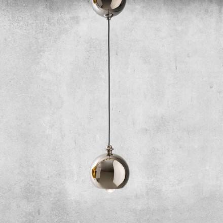 Lámpara moderna suspendida en cerámica hecha en Italia - Lustrini L5 Aldo Berrnardi