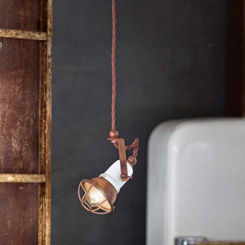 Ajustable cerámica lámpara de suspensión y metal Alayna Ferroluce