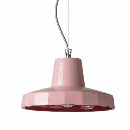 Lámpara colgante de 30cm en latón y maiolica toscana, Rossi Toscot
