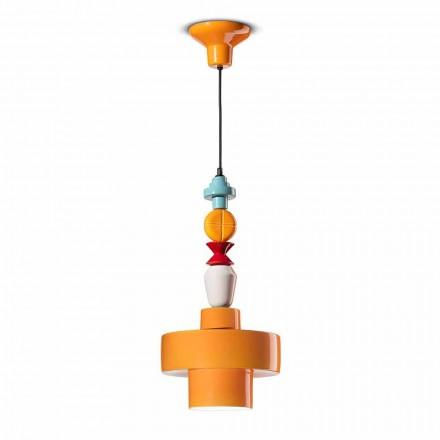 Lámpara Colgante Cerámica Amarillo o Verde Hecho en Italia Diseño - Ferroluce Lariat