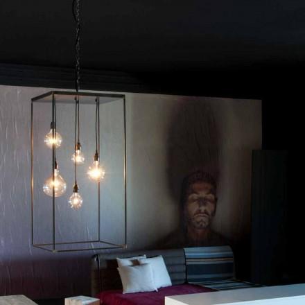 Lámpara colgante con estructura de hierro hecha a mano Made in Italy - Cosma