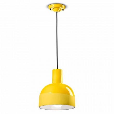 Lámpara colgante de estilo moderno en cerámica Made in Italy - Ferroluce Caxixi