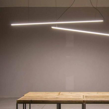 Lámpara colgante hecha a mano en aluminio con barra LED Made in Italy - Ledda