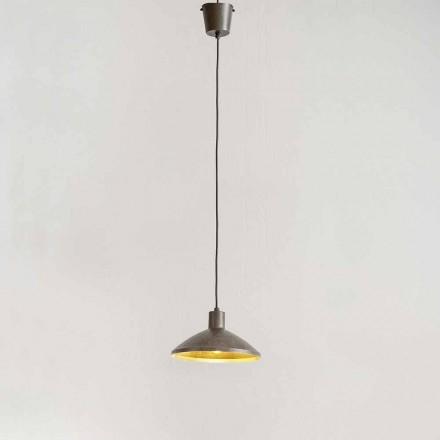 Lámpara de suspensión en acero antiguo Diámetro 310 mm - Materia Aldo Bernardi