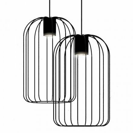 Lámpara colgante moderna con estructura de alambre metálico Made in Italy - Cage