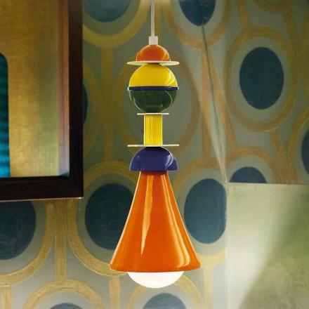 Lámpara colgante multicolor contemporánea Slide Otello Hanging, hecha en Italia