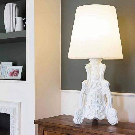 Lámpara de sobremesa de color, diseño moderno de la diapositiva Lady of Love hecha en Italia.