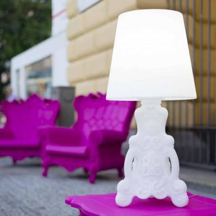 Lámpara de mesa Slide de Lady of Love de diseño luminoso fabricada en Italia.