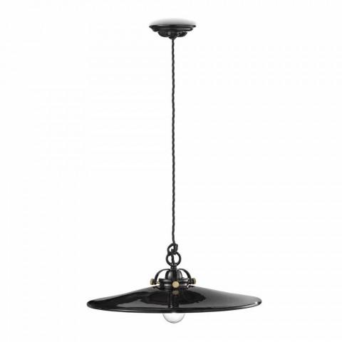 Lámpara de la vendimia pulido suspensión cerámica y los tornillos de oro Betty