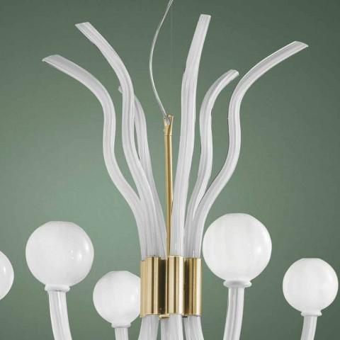 Araña de luces venecianas de 6 luces hecha a mano en Italia - Antonietta