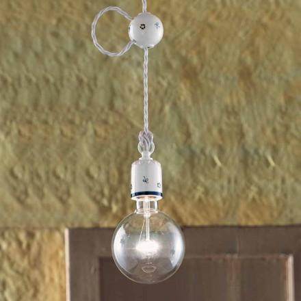 suspensión cerámica rústica de la lámpara Ferroluce