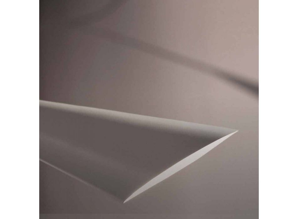 Araña de luces hecha a mano de acero pintado en blanco Made in Italy - Elica