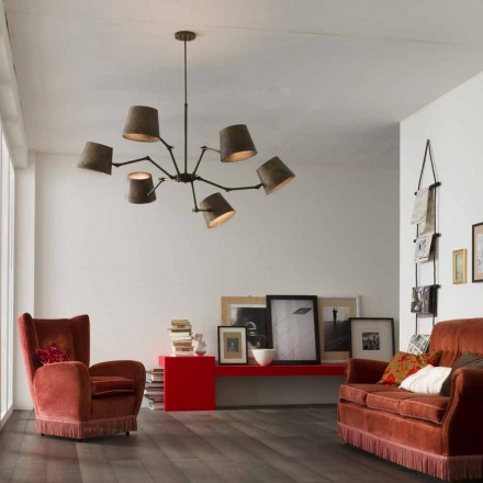 Lámpara estilo industrial hierro y latón Reporter Il Fanale