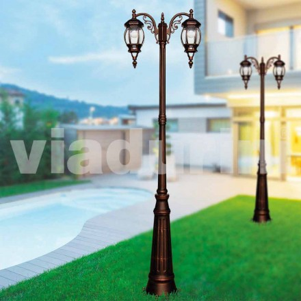 Farola clásica para exteriores hecha con aluminio fundido a presión, hecha en Italia, Anika