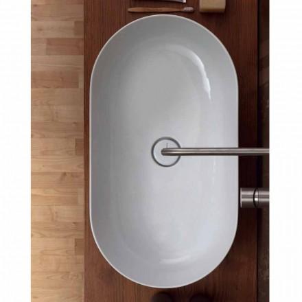 Lavabo sobre encimera de cerámica de 70x35cm hecho en Italia Star, diseño moderno