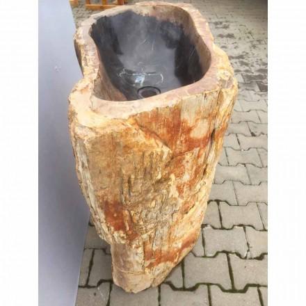 Lavabo de columna de piedra natural pieza única modelo Ley