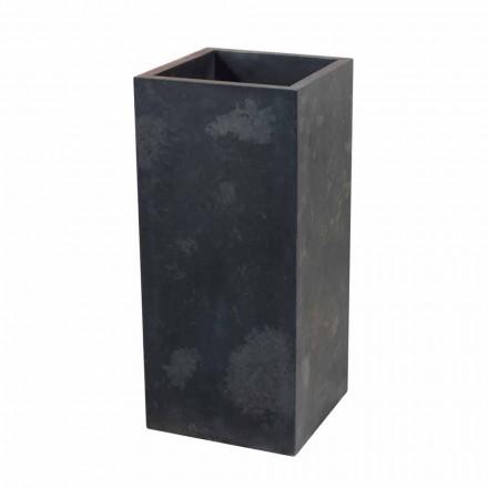 Lavabo de columna de piedra natural negra, Balik