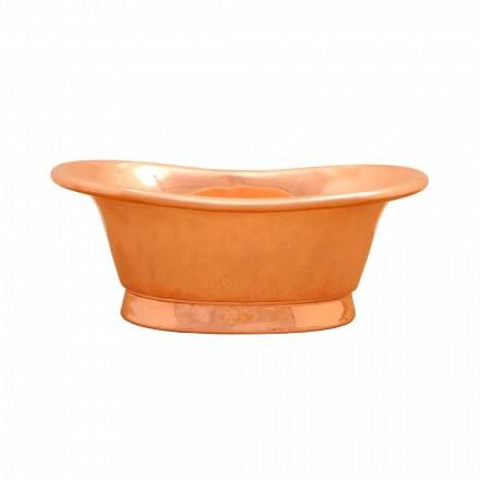 Lavabo sobre encimera de cobre hecho a mano modelo Cala