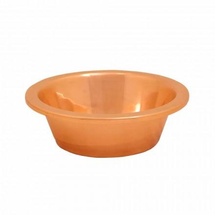 Lavabo sobre encimera de cobre hecho artesanalmente Sole