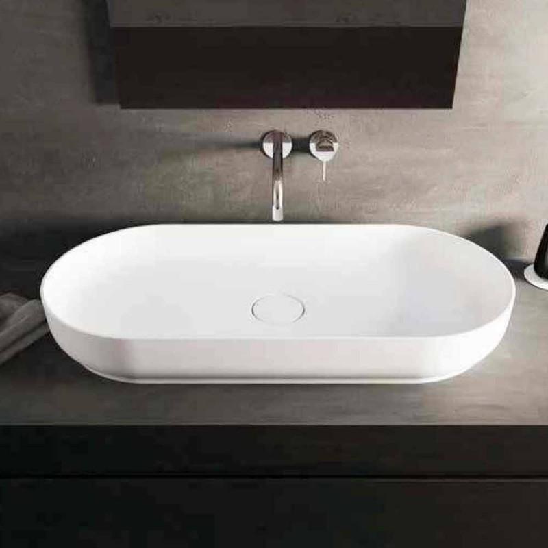 Lavabo de baño de diseño moderno hecho en Italia por Dalmine Maxi