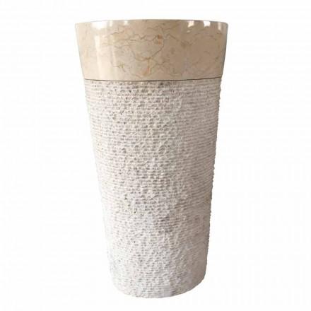Lavabo de piedra natural blanco diseño Siro, pieza única.