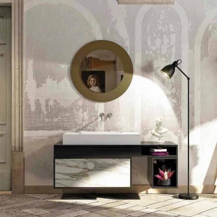 Tapa de baño con lavabo integrado centralmente en Luxolid Voghera