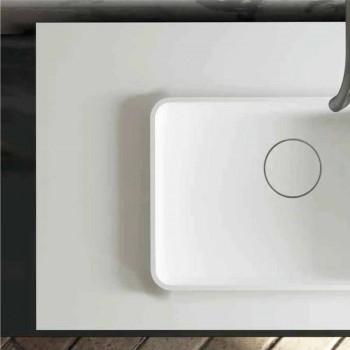 Lavabo central y encimera de baño de diseño hecho en Italia Voghera
