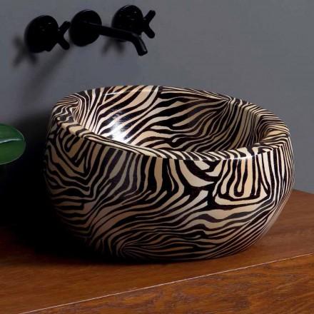 Lavabo sobre encimera de cerámica moderno hecho en Italia por Elisa
