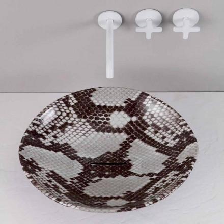 Lavabo sobre encimera de diseño de cerámica realizado en Italy Animals
