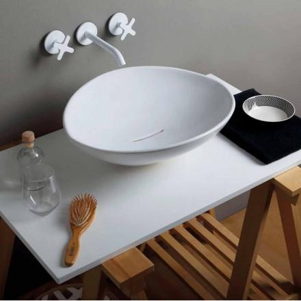 Lavabo de cerámica de diseño moderno hecho en Italia