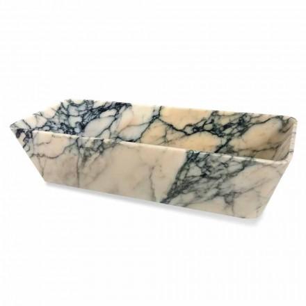 Lavabo sobre encimera en mármol Paonazzo Squared Design Made in Italy - Karpa