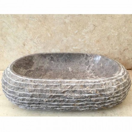 Lavabos De Piedra Natural Y Madera Petrificada Viadurini