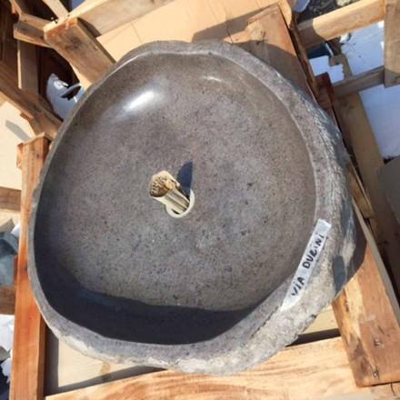 Lavabo sobre encimera hecho a mano en Pietra di Fiume - Aurea
