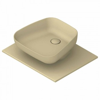 Lavabo sobre encimera de cerámica moderno hecho en Italia, Reale