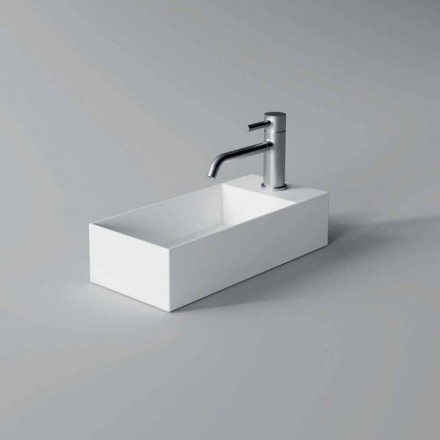 Lavabo rectangular sobre encimera de cerámica Made in Italy - Act