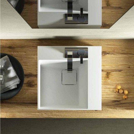 Lavabo cuadrado de diseño moderno hecho en Italia, Lavis