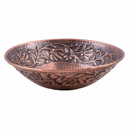 Lavabo sobre encimera de cobre hecho a mano, Pallare