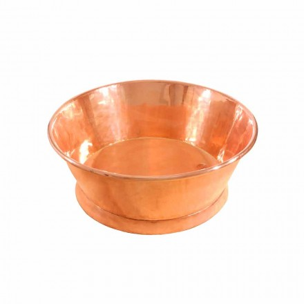 Lavabo sobre encimera de cobre hecho a mano modelo Ania