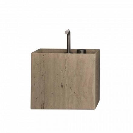 Lavabo de baño de piedra de encimera cuadrado moderno de alto diseño - Farartlav2