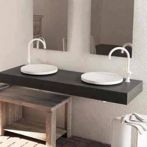 Lavabo de pie de diseño redondo hecho en Italia Crema