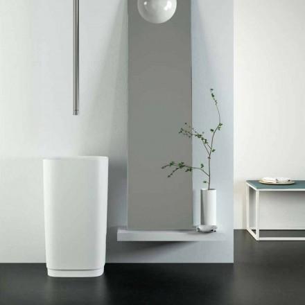 Lavabo de pie independiente autoportante circular hecho en el diseño de Italia, Lallio