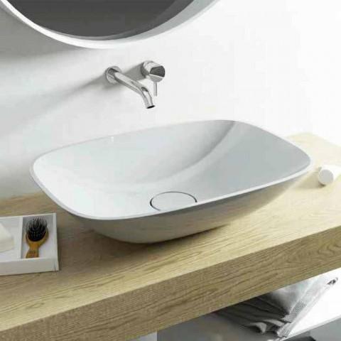 Baño moderno, lavabo, ba independiente, hecho en Italia Taormina Medium