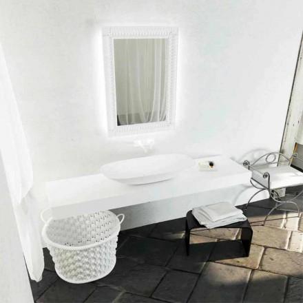 Lavabo sobre encimera de diseño moderno Taormina Maxi, hecho en Italia