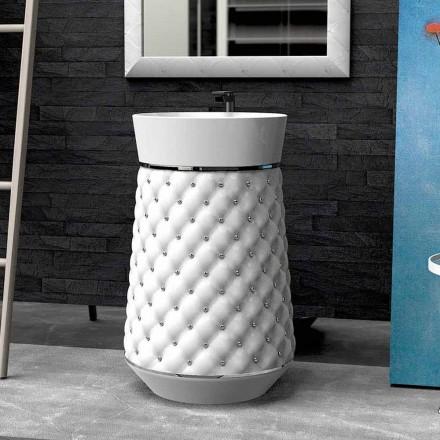 Lavabo de pie de diseño moderno en superficie sólida Elizabeth