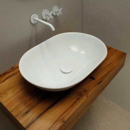 Encimera de lavabo de cerámica de diseño moderno hecha en Italia