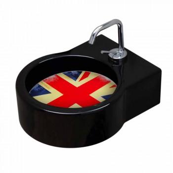 Lavabo / suspensión independiente de cerámica negra fabricado en Italia Tor